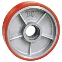 Bánh xe nâng Globe 180 PU đỏ cốt gang