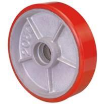 Bánh xe nâng Globe 200 PU đỏ cốt gang