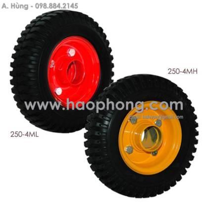 Bánh xe rời Phong Thạnh 250-4 Cao su mâm thép